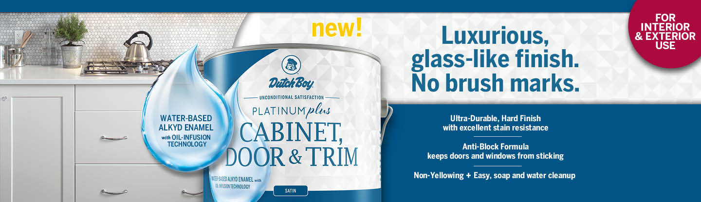 New! Platinum Plus Cabinet Door & Trim