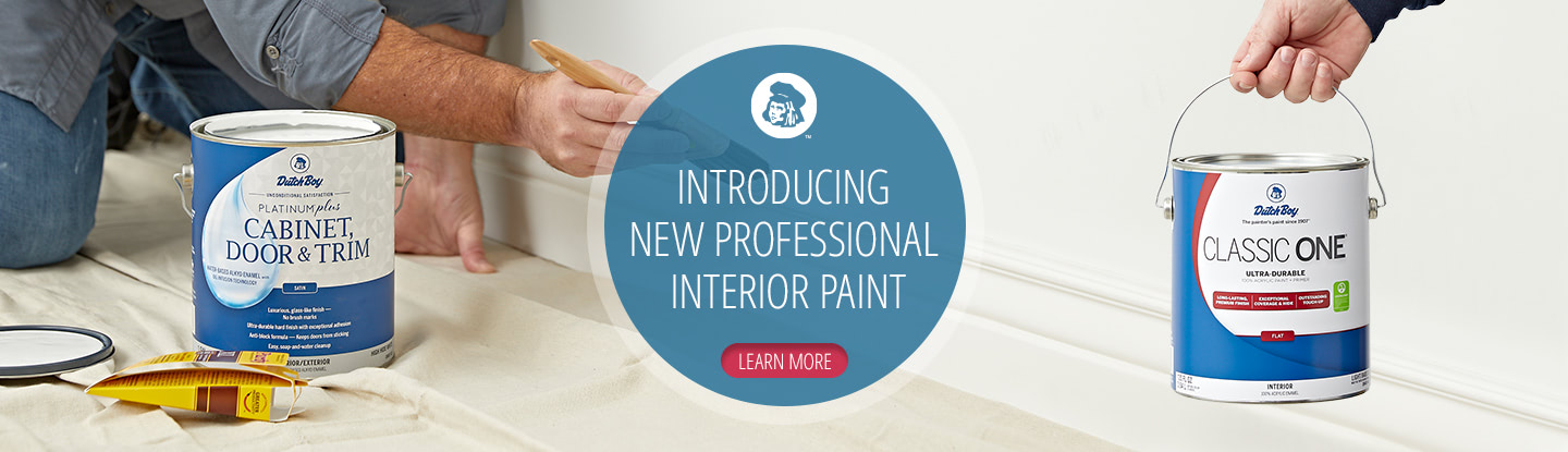 Introducing new professional interior paint. Learn more!