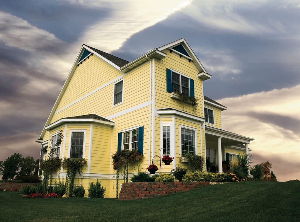 House On The Hill Siding Exteriors Room Scenes