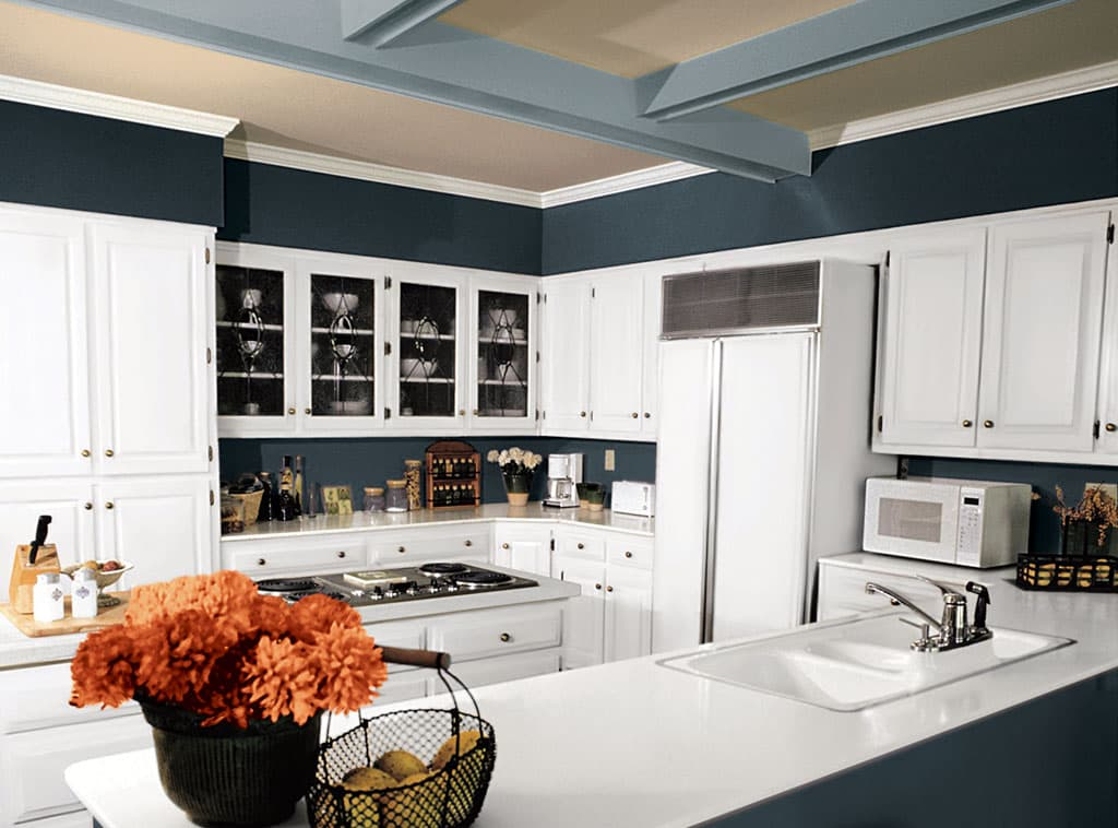 Colorful kitchen kitchen interiors room scenes for Kitchen colors